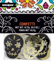 Skull Day Of The Dead Metallic Skull Confetti (1)